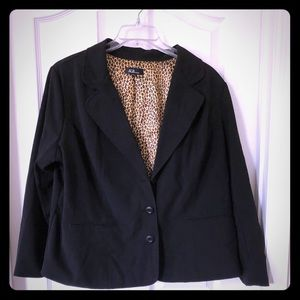 Plus Black Blazer